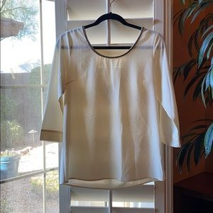 Skies Are Blue Cream Blouse